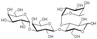 α-3半乳糖-3岩藻糖乳糖, α-3Galactosyl-3Fucosyllactose, Galα1-3Galβ1-4(Fucα1-3)Glc。C24H42O20 。货号:GLY064