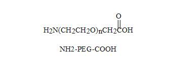Laysan 氨基-PEG-乙酸 Amine-PEG-Carboxylmethyl (NH2-PEG-CM),又名氨基-PEG-羧甲基, 是一侧是乙胺基团,另一侧是羧甲基的双官能团聚乙二醇。具有反应活性的伯胺,在DCC或EDC偶合条件下可以迅速与活性羧酸反应,例如NHS酯,生成稳定的酰胺键。聚乙二醇羧酸可以通过多肽偶联剂,例如NHS,DCC和EDC,与含胺基官能团反应,通常需要被NHS酯激活。