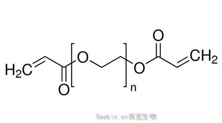 聚乙二醇二丙烯酸酯 Acrylate-PEG-Acrylate (ACRL-PEG-ACRL),是一种线性两侧都具有丙烯酸酯基团的双官能团聚乙二醇,可用于自由基引发或紫外光引发的聚合反应,常用于制备聚乙二醇水凝胶。